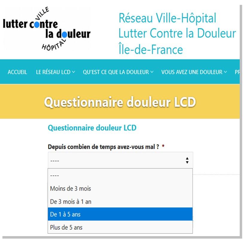 Questionnaire Douleur en ligne